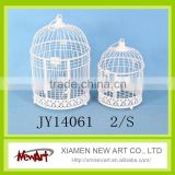 White color metal bird cages birdcage wedding favor box