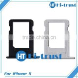 Free shipping Wholesale 100% original high quality sim card tray for iphone 5                                                                         Quality Choice