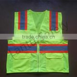 100% polyester combined fabric cheap reflective safety vest                                                                         Quality Choice