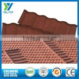 Roman type China cheap decorative lightweight roofing building construction stone coated metal roof tile