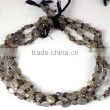 "5 Strands Natural Labradorite and Garnet Rondelle and oval Beads Strand, Mix Beads Strand, 12"" Long Smooth and Faceted B"