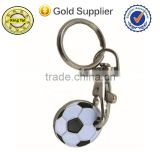 Best selling quality soft enamel metal football club keychain