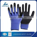 Latex foam coated safety working glove for hand protective