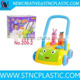 baby toys hot selling plastic baby trolley walker