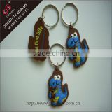 Made in China delicate souvenir popular soft pvc wholesale key ring chain