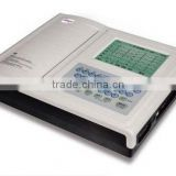 2013 hot selling digital portable rechargeable LCD screen ECG machine 12leads 12channels JPD-E12
