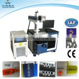 aluminum befroe after anodized marking 55w/100w Diode Side Pump Laser Marking Machine for Metal and Hard Plastic marking