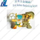 Gold plating 2014 Brasil world cup Metal butterfly clutch lapel pin