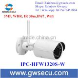 Dahua overseas English version IPC-HFW1320S-W 3MP IR30M IP67 built-in WIFI SD Card slot Network outdoor Bullet IP WIFI Camera