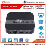 MINI PC W8 Intel Bay Trail-T CR Atom Z3735F Quad Core Windows8.1 2G/32G XBMC Wintel TV Box DLNA Miracast WiFi Bluetooth 4.0
