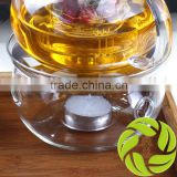 Top quality promotional teaset glass teaware kongfu tea set glass warmer candle tea warmer