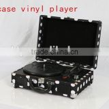 Popular Hotter USB Suitcase Vinyl Record player PU case