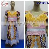 Chowleedee new bazin/brocade women African clothing women dress/African dress/brocade dress with fancy decoration wholesale