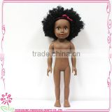 18 inch black skin nude small girl doll