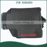 All Weather Protection Waterproof Full Set Floor Mats Floor Liners Custom Fit Floor Carpets for Ssangyong Korando c