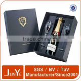 complete set wine bottle and glass box with die cut insert