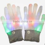 New product flashing fiber optic gloves party toy,hot sell magic flashing glove,funny party toy