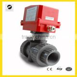 2 way/3 way motorized PVC ball valve price 220V 1.6MPA for home-automation system, swimming pool equipment