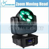 Stage Equipment Light Diamond 6x15W 4 IN 1 RGBW LED Zoom Beam Mini Moving Head Led Light