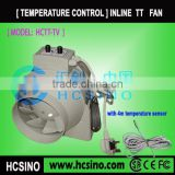 Inline extractor fan with thermostat
