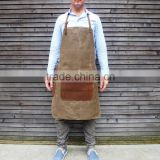 Heavy Duty Waxed Canvas Apron For Barber