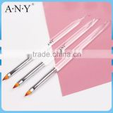 ANY Clear Acrylic Handle Nylon Hair 3D Nail Art Design Care Brush