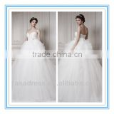 2014 New Style Lace Appliqued Sweetheart Strapless Ball Gown Wedding Dress Patterns (WDER-PERFECT)