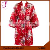 FUNG 3008 New Women Floral Silk Satin Robes