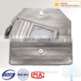 Custom logo in alibaba suppiler factory,leather wallet for women with Credit card holder inisde