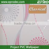 new latest vinyl project wall paper for bathroom decoration