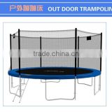 factory direct Jinhua Lanxin fitness & body building trampolines with net and ladder outdoor for kids anfd adults