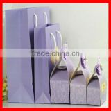 Top Quality Colorful Purple Custom Logo Printing Paper Apparel Packaging Gift Bag Wholesale