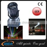 Professional Searching Fixtures 4KM Super Power Sky Search Light Guides With White/Red/Blue/Green/Amber Color