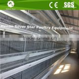 Uzbekistan Farm Use Al-Zn Steel Material H Type 4-Tier Big Layer Cage/Growing Layer Cage Equipment