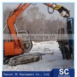 Excavator wood grapple, rock grab bucket, timber log grapple best sale