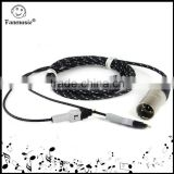 ZY Cable Upgrade Version HD580/HD600/650 balance line (4-pin XLR Male) OCC ZY-002 2.5M cable