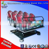 Guangzhou Leader Game hot selling amusement ride 12 truck mobile cinema equipment with motion simulator seats