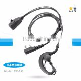 SAMCOM EP-1X K-Connector Quality Certification TPU Dmr Walkie Talkie Earphone With Microphone