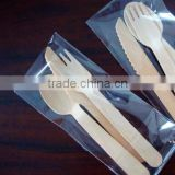 cheap disposable wooden cutlery spoon fork knife with logo customize make wholesale hotsale