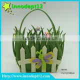 Wholesale custom colorful home decoration promotional gift basket with grass storage basket