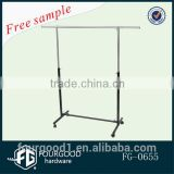 single bar garment rack /clothes rack /clothing rack for supermarket