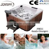 Joyspa Discount Whirlpool Massage Hot Tub 5 Person Bathtub with 1 Lounger Aristech Acrylic JY8011
