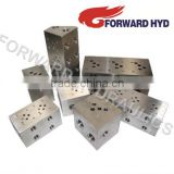 Hydraulic cartridge valve manifold hydraulic block valve