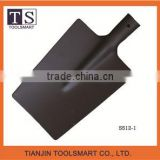 types of black painted steel function spade shovel with polished socket