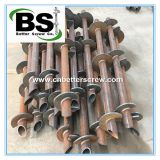 Steel Round lead Helical Piles for New Construction