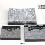 Glass mosaic wooden plates can be in any colour