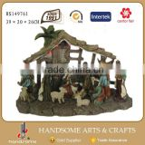 15 Inch Handsome Crafts Christmas Crib Led Light House Decorations