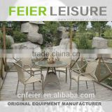 FEIER A6064CH Round Rattan Chair Wicker Metal Frame Chair