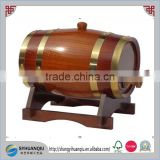 Beer usage wood material handmade decorative 5 litre wooden wine barrel with wood stopper