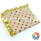 Cheap Gold Sequin Polka Dot Fabric Plain Fleece Baby Pink Blanket Baby Blankets Wholesale In China